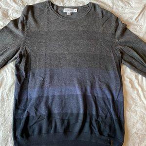 Calvin Klein Gray, Blue & Black Sweater Size L